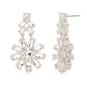 kate spade Crystal Garden Drop Earrings Silvertone